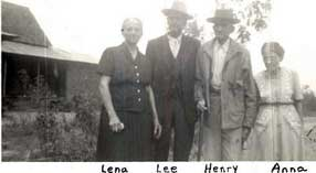 "Brasfield, Lena F. & Brasfield, William Leonard ""Lee"" & Brasfield, Henry Wadsworth & Brasfield, Anna Lou - circa 1940"