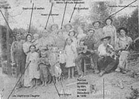 BRASSFIELD, Sophronia Annie and family members - circa 1920
